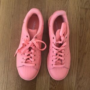 Adidas Stan Smith Originals Coral Trainers Sneaker